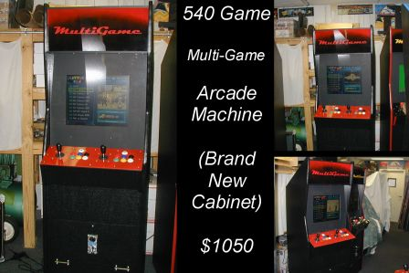 540 Game Arcade Machine / Rebuilt / Like New $1050