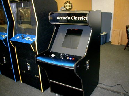 Sit Down Arcade Multi Game Machine / 60 Games, New Wiring & Controls, Lighted Buttons, Ground Effect Lights in Blue & Red  $975